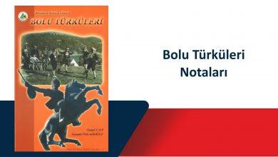 Photo of Bolu Türküleri Nota Kitabı