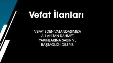 Photo of 09.12.2019 VEFAT İLANLARI