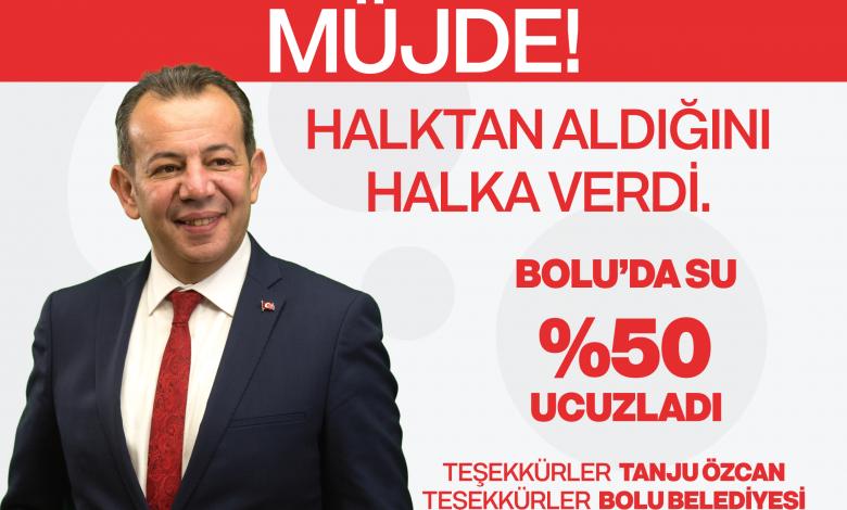 Photo of Bolu Belediyesi su fiyatını yüzde 50 indirdi